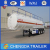 3 Axle 45000L Fuel Tanker Trailer Fuwa Axles with Air Suspension