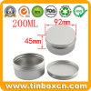 200ml Aluminum Cans Cosmetic Cream Jar Aluminum Box with Screw Top