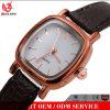 Vs-806 OEM Fashion Charm Slim Custom Logo Diamond Square Case Leather 5ATM Waterproof Lady Watches Women