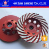 Huazuan Manufacturer Continuous Turbo Stone Diamond Grinding Cup Wheels