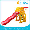 Top Quality Factory Price Plastic Parts Slide Baby Slide with Portable Basketball Stand