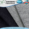 Indigo 100% Cotton French Terry Knitting Knitted Denim Fabric for Garments