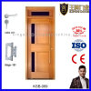Surface Painted Bathroom Wooden Veneer Glass Door