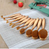 New Fashion 10PCS Toothbrush Type Cosmetic Tool Oval Makeup Brush Set