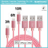 Factory Price USB 2.0 to Micro USB Fabric Braided Charging Cable
