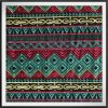 Chiffon Ground with Geometric Embroidery