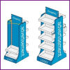 Double MDF and Steel Shelves Floor Stand for Specialty Store