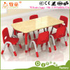 Early Childhood Centre Kids Furniture 6 Seats Table and Chairs