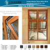 Aluminium House Wood Grain Combination Window with Double Glass