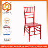 Polycarbonate Resin Acrylic Chivari Chair in Red