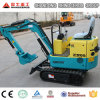 Rubber Track Crawler Excavator Mini Excavator 0.8t, 1.5t Cheap Farm Digging Machine for Sale in Europe