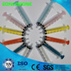 Disposable Colored Sterile Syringe, Luer Lock Syringe with Colored Plunger