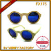 Fx175 Wholesale in China High Quality Round Bamboo Polarized Sunglasses