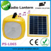 2014 New Designed Rechargeable Solar Lantern with Radio, USB Charger, Battery Level Indicator