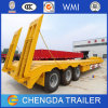 Tri-Axle 60tons Lowboy Low Bed Semi Truck Trailer for Sale