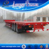 40FT Flatbed Semi Trailer, Tri Axle Container Transport Gooseneck Semi Trailer for Sale