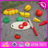 2015 Most Famous Wooden Cutting Toy Food for Kids, Role Play Toy Food for Children, Happy Playfully Cutting Wood Food Toy W10b106