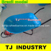 Blue Color Brazil Model Wheel Barrow with Powder Coated Tray