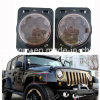 Amber Front Fender Flare LED Lights Side Marker Smoke Lens Turn Signal Parking Lamps for Jeep Jk Wrangler