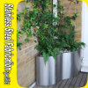 Stainless Steel Half Round Planter, Flower Pots