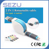 Colorful 2 in 1 Retractable Flat Noodle Data Sync Charging USB Cable for iPhone 5/5s 6 Plus Samsung S3