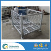 Stackable and Folding Steel Heavy Duty Wire Mesh Box for Warehouse Storage