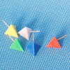 Coloured Plastic Triangular Push Pin (QX-HP003) 13*22mm Decoration