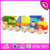 2015 Colorful Wooden Toy Blocks Train for Kids, Fashionable Children 18PCS Wooden Toy Train, Lovely Baby Wooden Toy Train W05c014