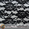 Stretch Lace Alternating Floral Black Fabric (M0504)