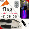 UTV/ATV/Car/Truck 4FT 5FT 6FT RGB LED Flag Light Removable LED Flag 10W LED Flag Pole Light