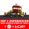 New Plastic Outdoor Playground Slides (HD14-028C)