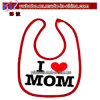 Infant Baby Accessories Bib Apron for Party Heart Mom (A1056A)