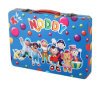Creative Design Tin Box with Handle for Packing Crayon