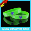 Custom Fluorescent Color Silicone Bracelet Ink Filled Wristband (TH-08870)