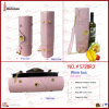 Pink Crocodile Grained Individual Wine Bag (5728R3)