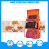 Transparent PVC and Non-Woven Orange Hanging Pocket Organizer Storage Bag
