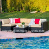 7PCS U Shape Outdoor Sectional Patio Furniture Brown Wicker Sofa Set