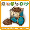 Custom Square Metal Airtight Food Storage Box Hot Chocolate Tins