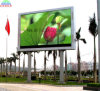 High Brightness P10 Outdoor LED Billboard on Pillar to Show Moving Advertising (4X3m)