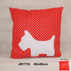 Polyester Suede Dog Embroidery Cushion Mattress Throws Pillows