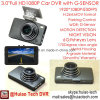 "Slim 3.0"" Full HD1080p Car Camera Built-in G-Sensor, Novatek96650 Chipset, 5.0mega CMOS Dash Camera, WDR, Night Vision, 170degree Angle Car DVR-3004"