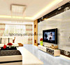 Anti-Slip 3D Super White Polished Floor Tile with Two Size