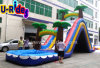 Arched Inflatable Water Slide with Pool