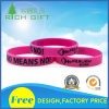 Customized Purple Wristband with Black Logo Printing