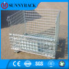 Folding Stackable Warehouse Storage Galvanized Wire Mesh Container