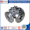 CF8m Stainless Steel 3 Flange Ball Valve