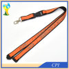 Double Layers Retractable Satin Lanyard with Silk Screen Printing