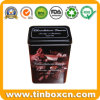 Rectangle Coffee Tin Container with Food Grade, Coffee Tin Box