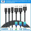 Nylon Braiding 1m2m3m Android Micro USB Cable for Samsung Mobile Phone