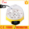 CE Approved Fully Automatic Holding 7 Eggs Baby Incubator Price